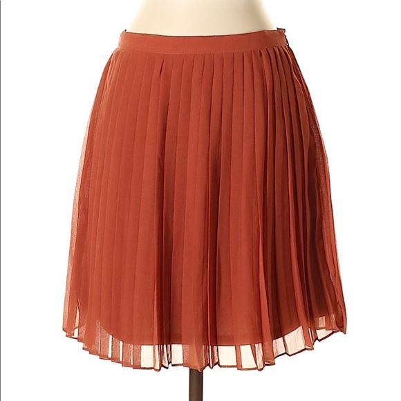 01863ec26c Forever 21 Skirts | Orange Rust Accordian Pleated Skirt Sm | Poshmark